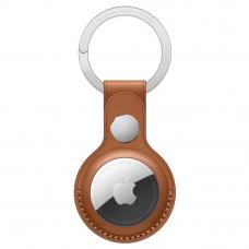 Кожаный брелок AirTag с кольцом для ключей Saddle Brown