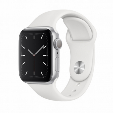 Apple Watch S5 40mm Silver Aluminum / White Sport Band