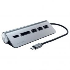 Адаптер Satechi Type-C Combo Port 3-USB-A + SD/MicroSD Gray