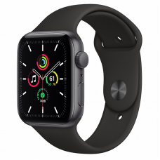 Apple Watch SE 44mm Space Gray Aluminum Case / Black Sport Band