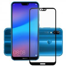 Защитное стекло 3D для Huawei P20 Lite Черное (Тех.Упаковка)