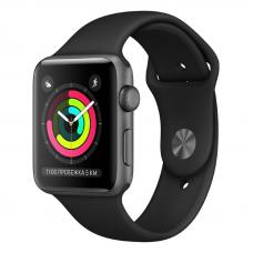 Apple Watch S3 38mm Space Gray Aluminum / Black Sport Band