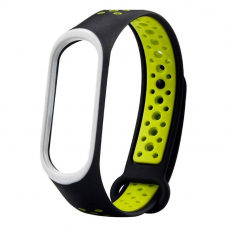 Ремешок для Mi Band 3 Nike Black-Lime