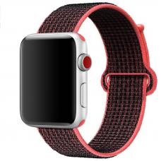 Ремешок для Apple Watch 38/40mm Loop Red Black