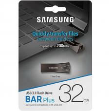 USB Накопитель Samsung Flash Drive Bar Plus 32GB Gray