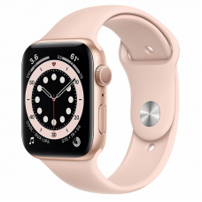 Apple Watch S6 44mm Gold Aluminum Case / Pink Sand Sport Band