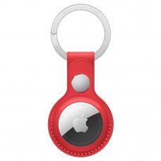 Кожаный брелок AirTag с кольцом для ключей Red