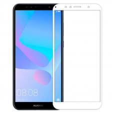 Защитное стекло 3D для Huawei Y6 Prime Белое (Тех.Упаковка)