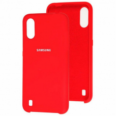 Чехол Samsung A01 Silicone Cover Red