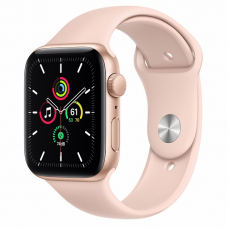 Apple Watch SE 44mm Gold Aluminum Case / Pink Sand Sport Band