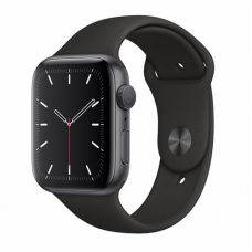 Apple Watch S5 44mm Space Gray Aluminum / Black Sport Band