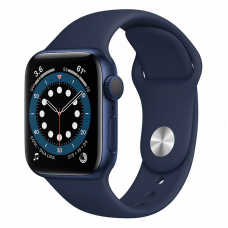 Apple Watch S6 40mm Blue Aluminum Case / Blue Sport Band