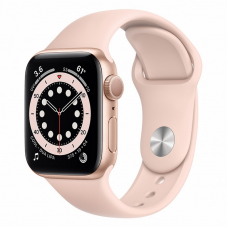 Apple Watch S6 40mm Gold Aluminum Case / Pink Sand Sport Band