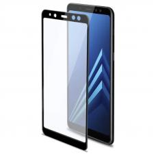 Защитное стекло 3D для Samsung Galaxy A8 Plus Черное (Тех.Упаковка)