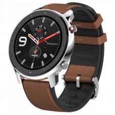 Xiaomi Amazfit GTR 47mm Stainless Steel / Brown Leather Strap спортивные часы