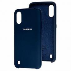 Чехол Samsung A01 Silicone Cover Midnight Blue
