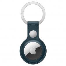 Кожаный брелок AirTag с кольцом для ключей Baltic Blue