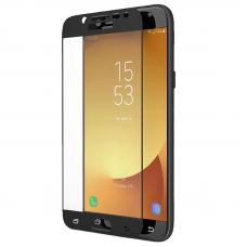 Защитное стекло 3D для Samsung Galaxy J2 (2018) Черное (Тех.Упаковка)