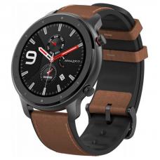 Xiaomi Amazfit GTR 47mm Aluminum Alloy / Brown Leather Strap спортивные часы