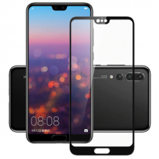 Защитное стекло 3D для Huawei P20 Pro Черное (Тех.Упаковка)