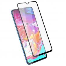Защитное стекло 3D для Samsung Galaxy A70 Черное (Тех.Упаковка)