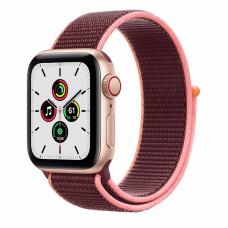 Apple Watch SE 40mm (Cellular) Gold Aluminum Case / Plum Sport Loop