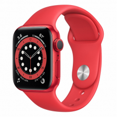 Apple Watch S6 40mm Red Aluminum Case / Red Sport Band