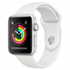 Apple Watch S3 42mm Silver Aluminum / White Sport Band