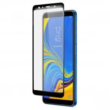 Защитное стекло 3D для Samsung Galaxy A7 (2018) Черное (Тех.Упаковка)